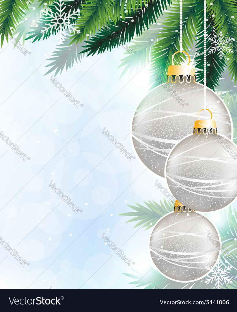 Silver christmas decorations vector | Price: 3 Credit (USD $3)