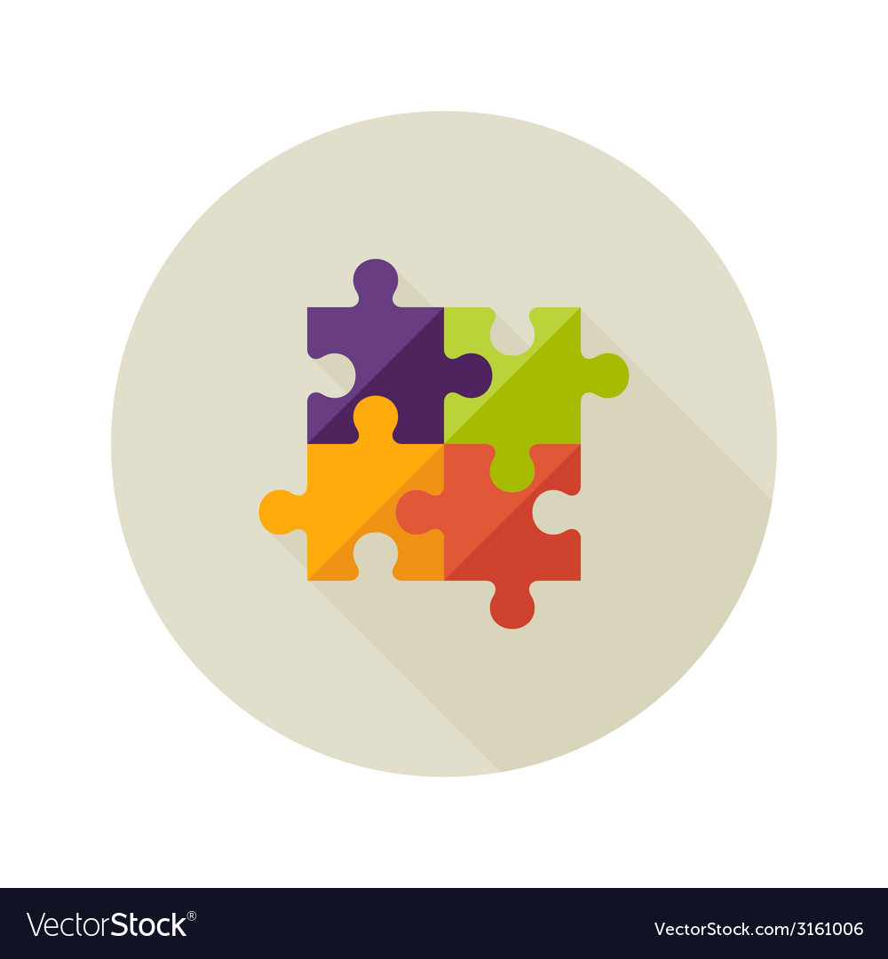 Solution creativity puzzle flat icon vector | Price: 1 Credit (USD $1)