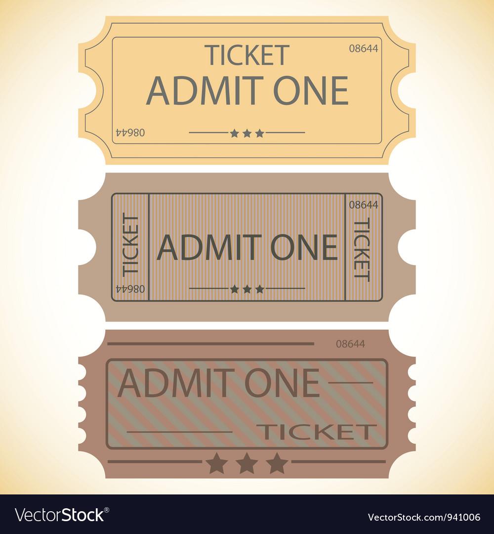 Three tickets vector | Price: 1 Credit (USD $1)