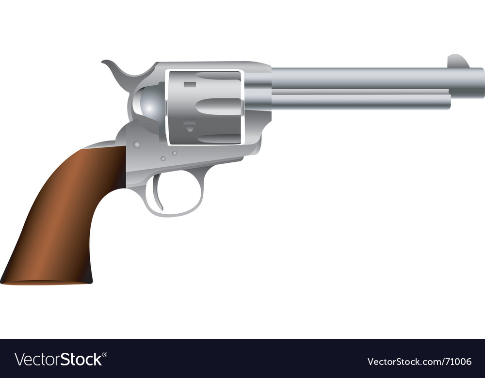Wild west revolver vector | Price: 1 Credit (USD $1)
