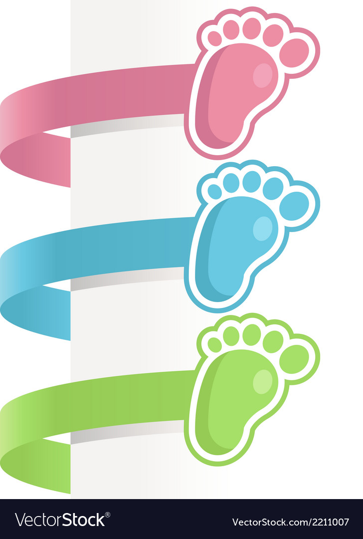 Baby feet labels vector | Price: 1 Credit (USD $1)