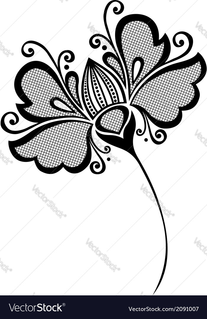 Beautiful decorative flower vector | Price: 1 Credit (USD $1)