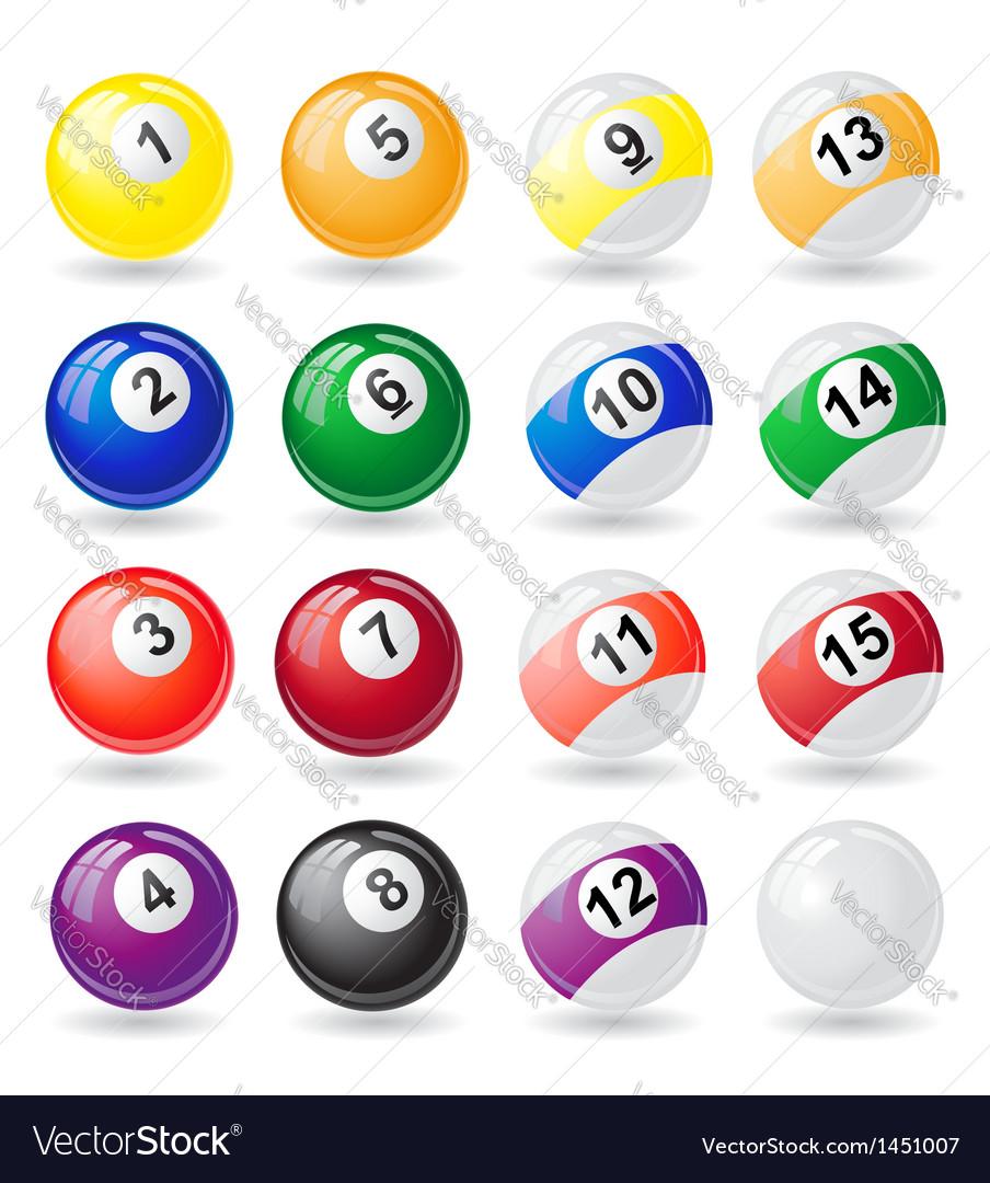Billiard balls 01 vector | Price: 1 Credit (USD $1)