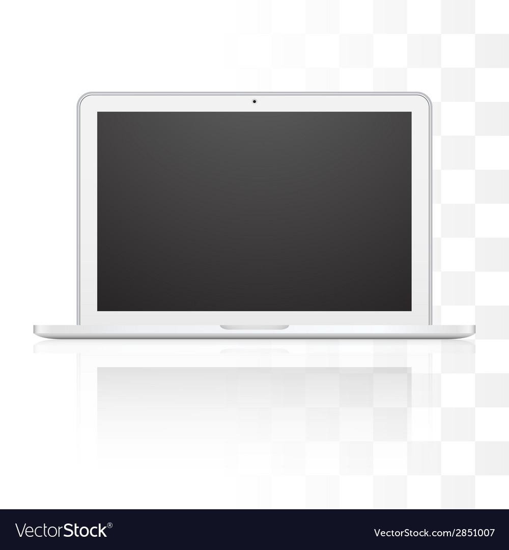 Laptop isolated on white background vector | Price: 1 Credit (USD $1)