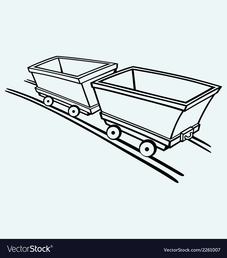 Mining cart vector | Price: 1 Credit (USD $1)