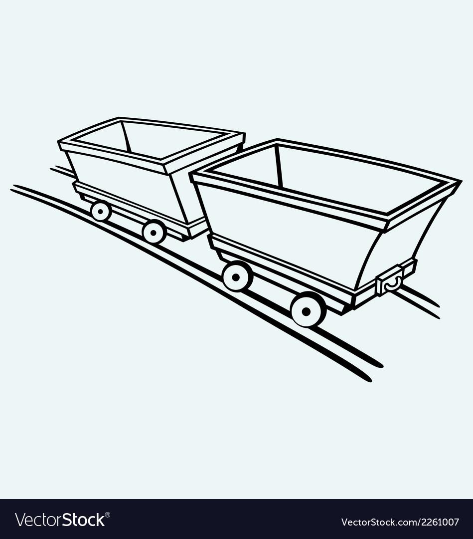 Mining cart vector | Price: 1 Credit (USD $1)