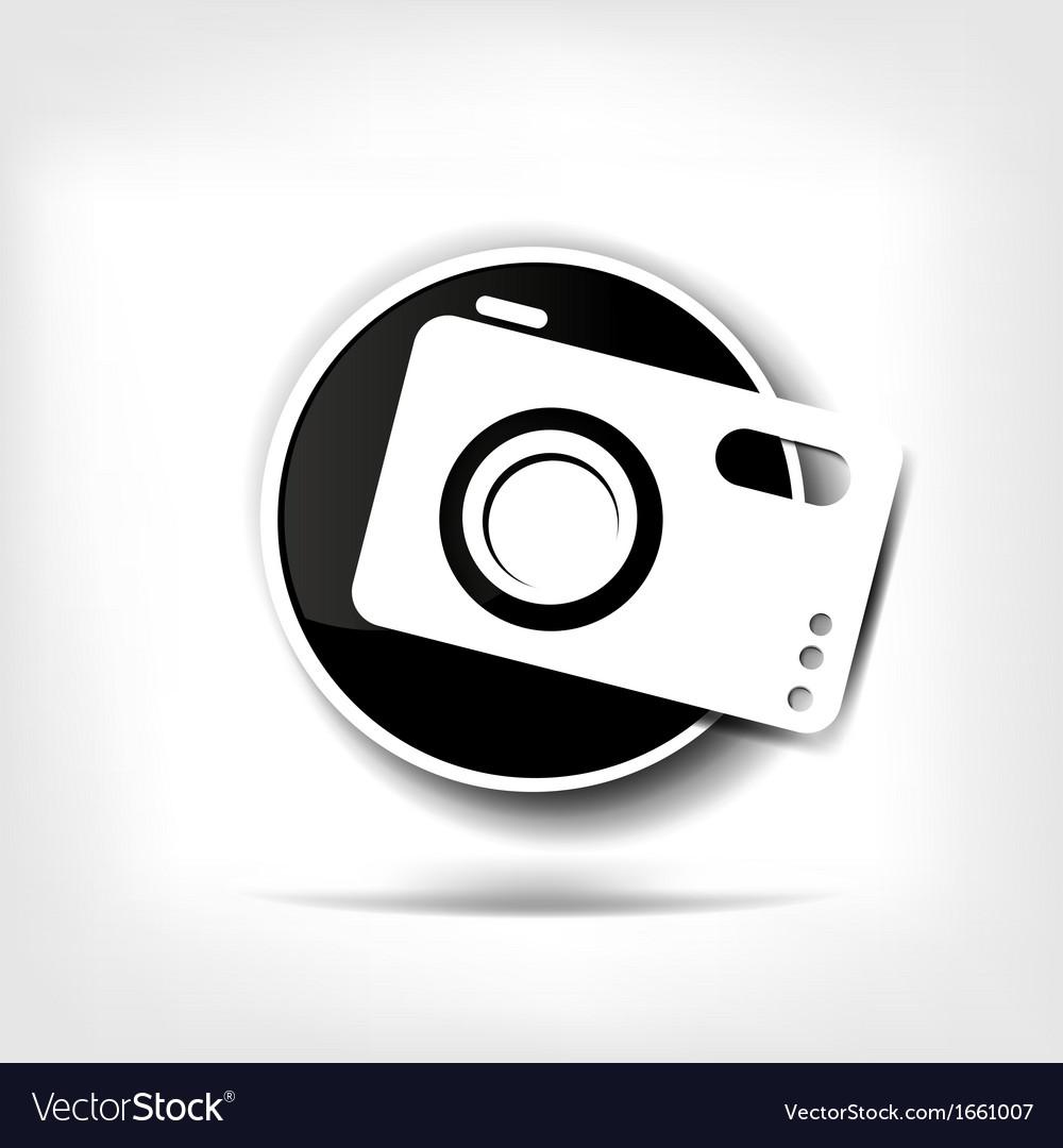 Photo camera web icon vector | Price: 1 Credit (USD $1)