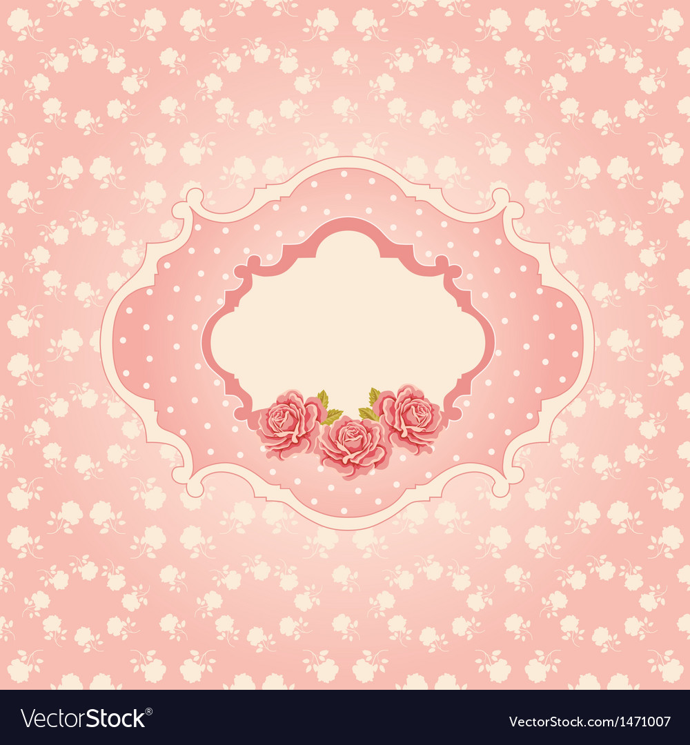 Seamless floral background greeting card template vector | Price: 1 Credit (USD $1)