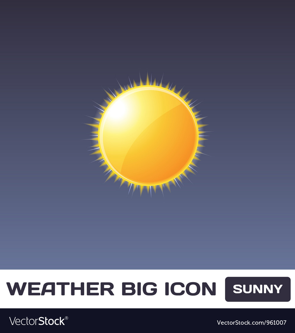 Sunny icon vector | Price: 1 Credit (USD $1)