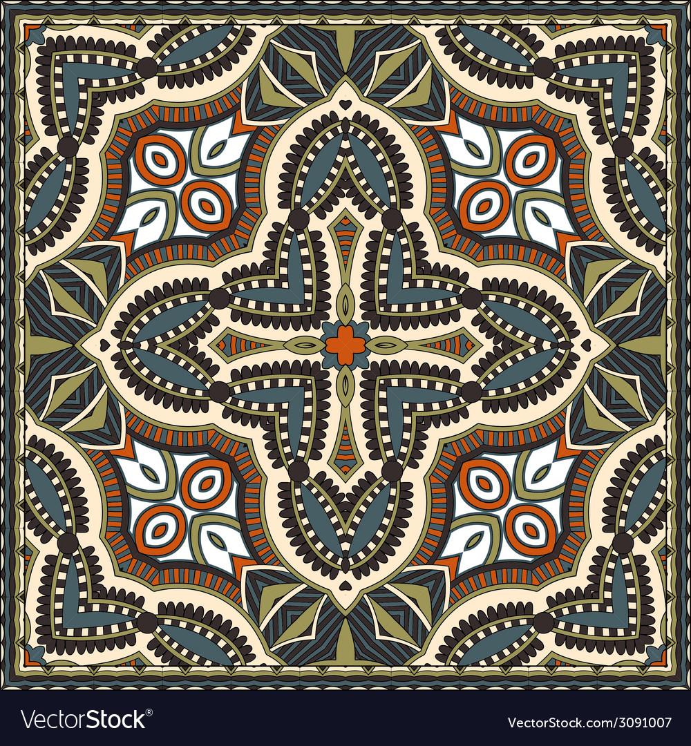 Traditional ornamental floral paisley bandanna you vector   Price: 1 Credit (USD $1)