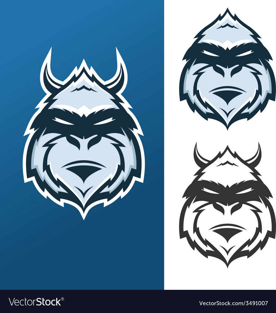 Yeti mascot for sport teams vector