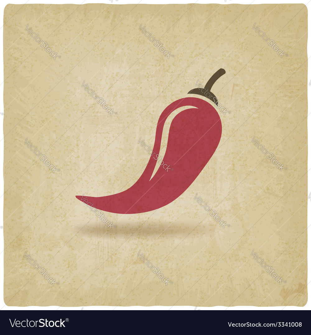 Chili old background vector | Price: 1 Credit (USD $1)