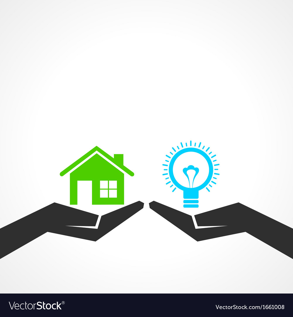 Compare home and idea concept vector | Price: 1 Credit (USD $1)