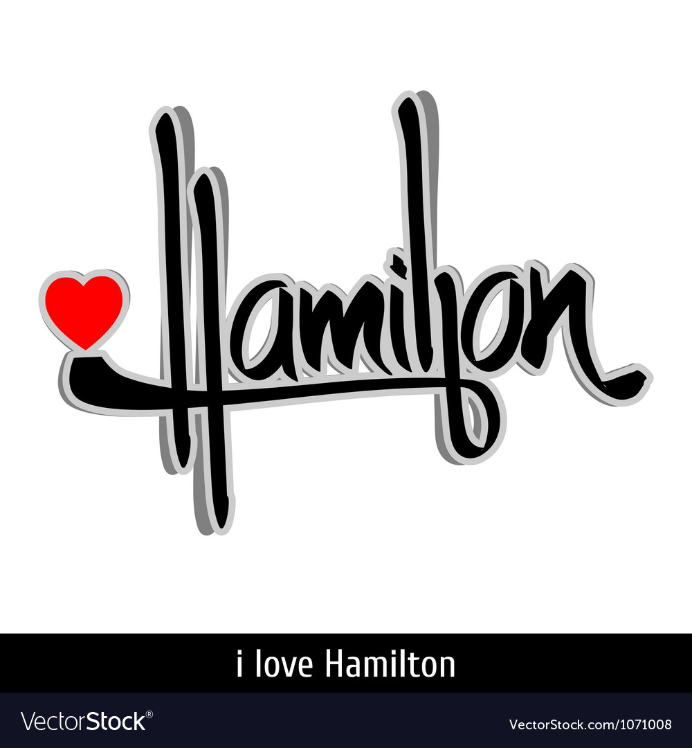 Hamilton greetings hand lettering calligraphy vector | Price: 1 Credit (USD $1)