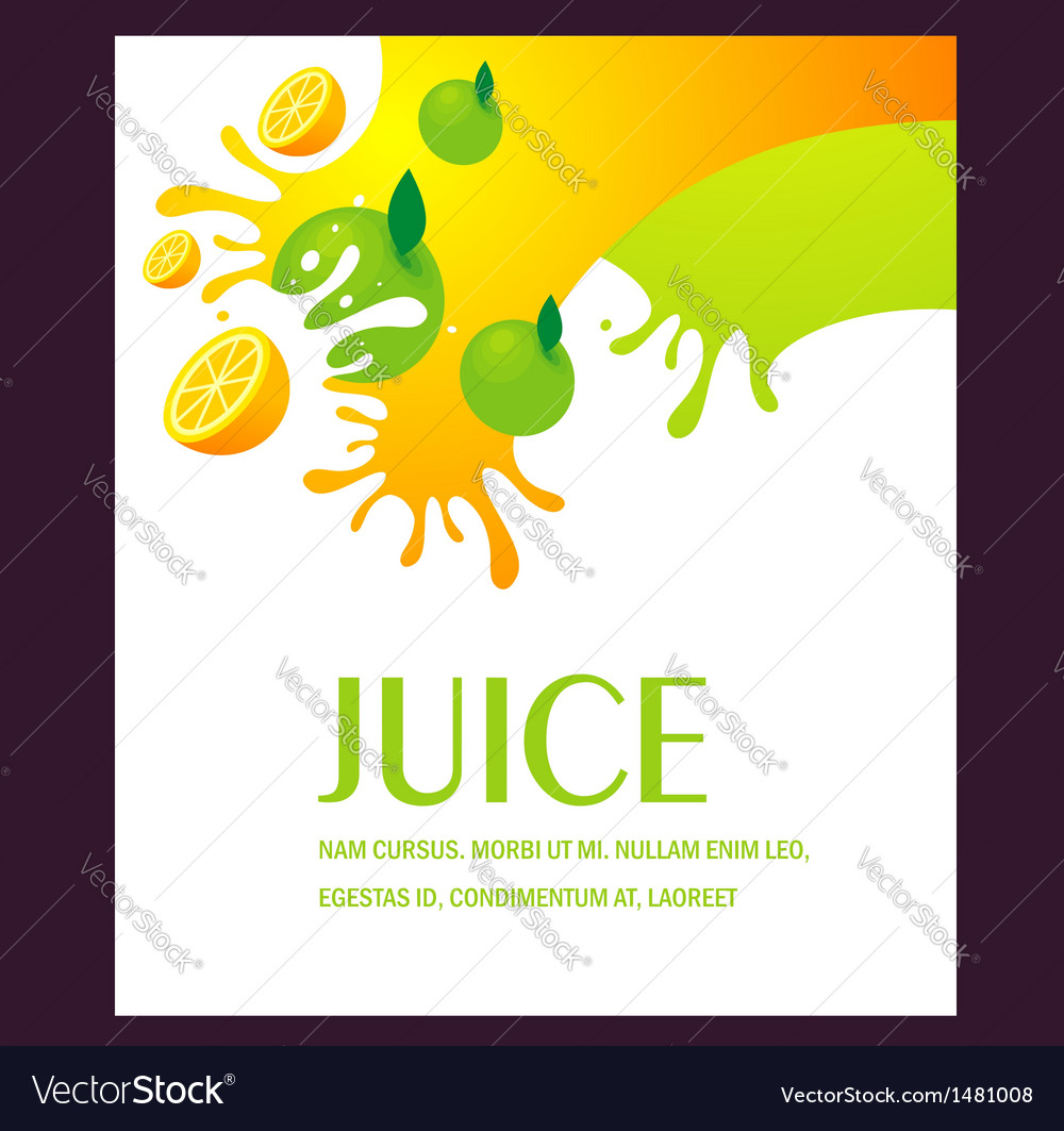 Juice fruit liquid drops splash colorful backgroun vector | Price: 1 Credit (USD $1)