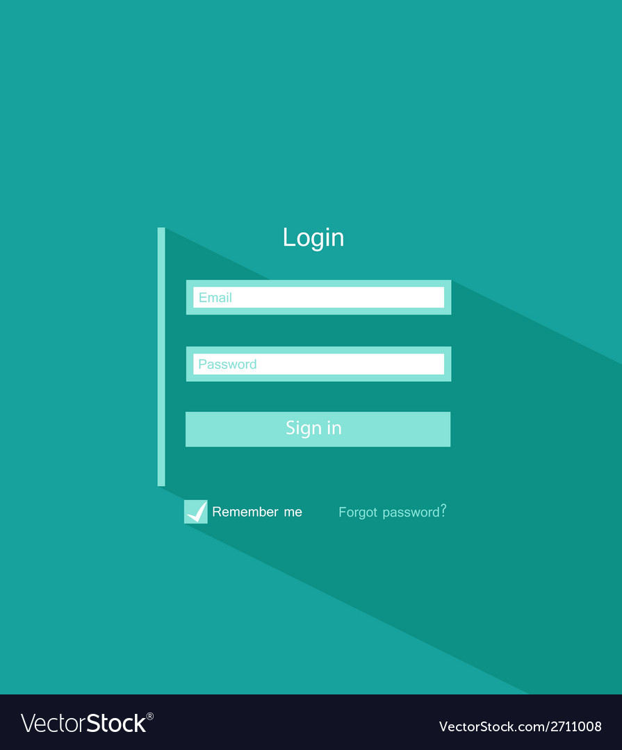 Login form vector | Price: 1 Credit (USD $1)