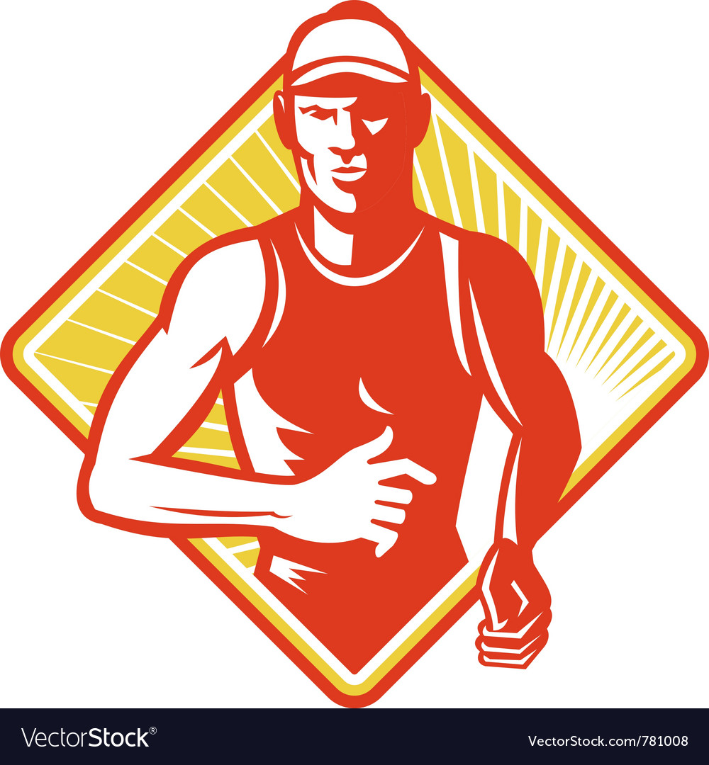 Marathon runner icon vector | Price: 1 Credit (USD $1)
