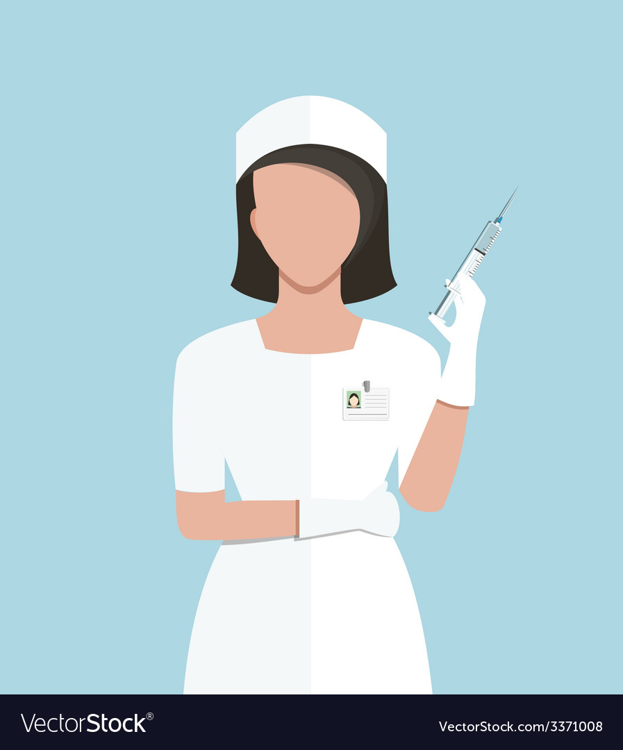 Nurse making medical injection vector | Price: 1 Credit (USD $1)