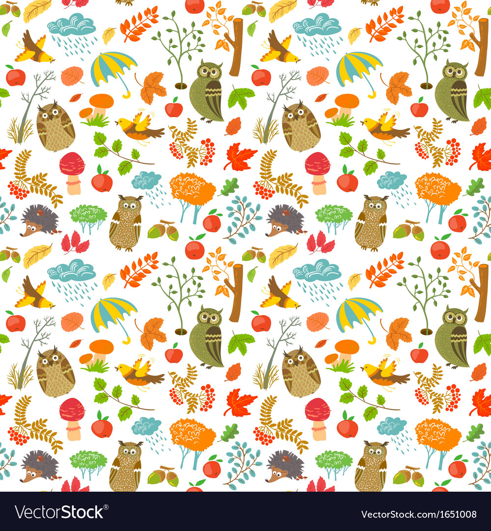 Pattern with owls vector | Price: 1 Credit (USD $1)