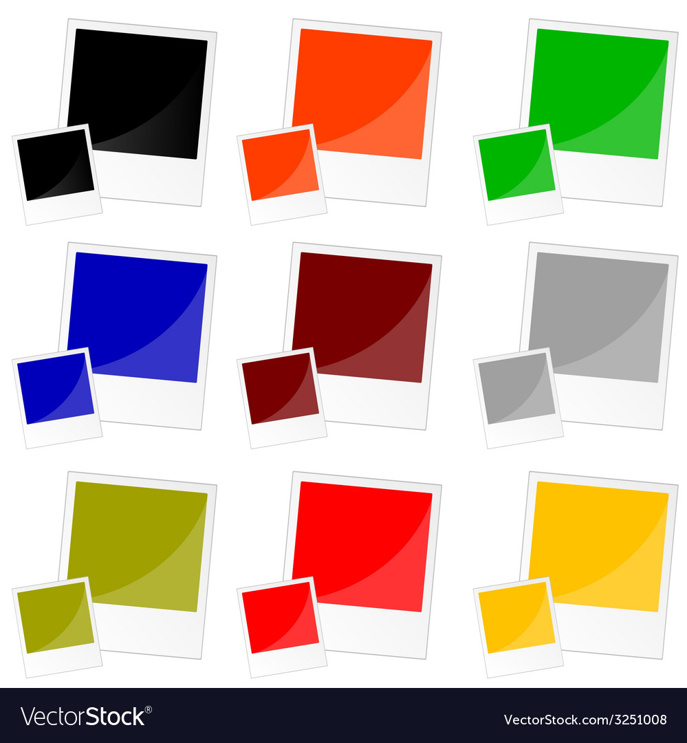 Photo frame in color vector   Price: 1 Credit (USD $1)