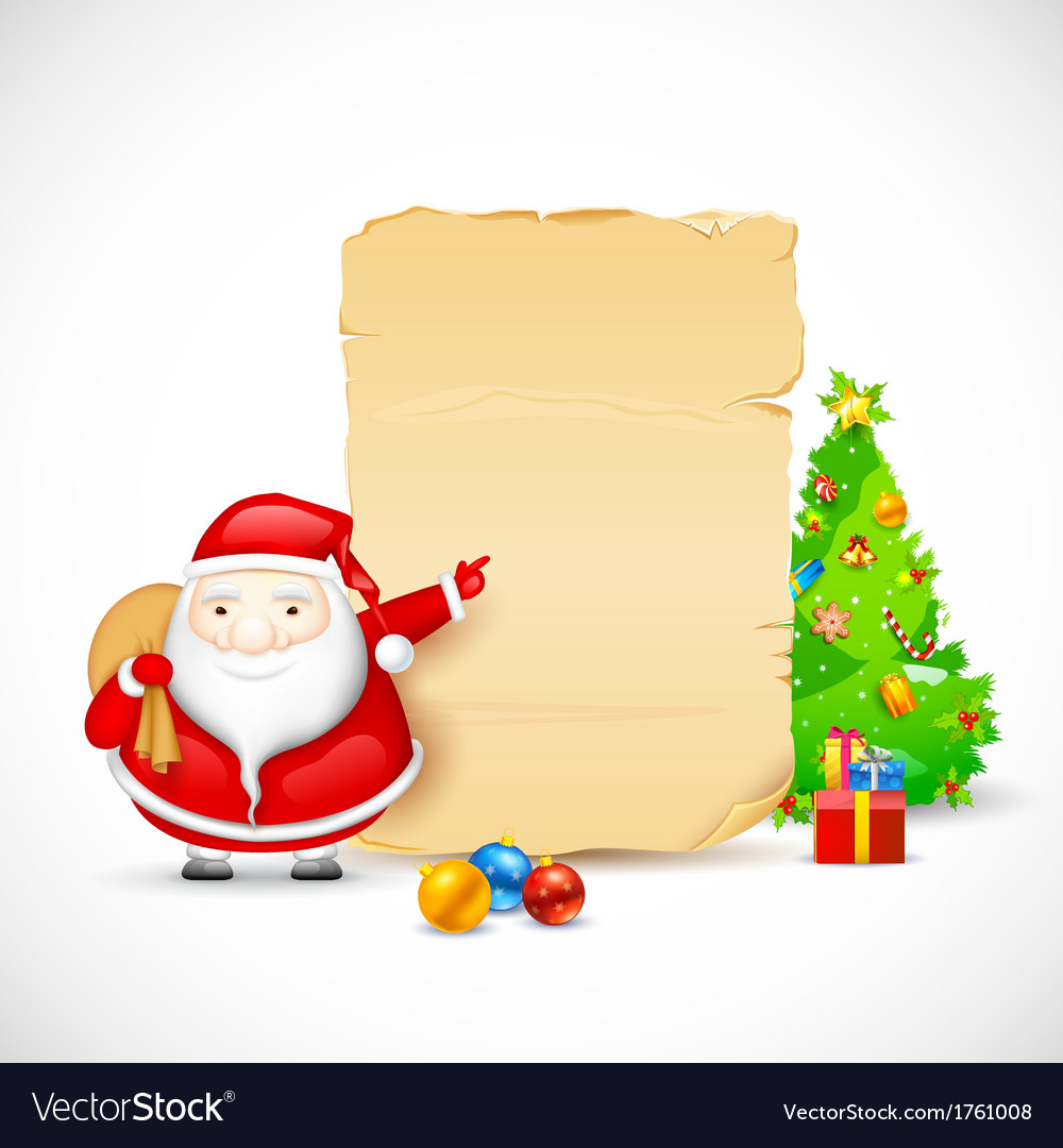 Santa with christmas gift vector | Price: 1 Credit (USD $1)