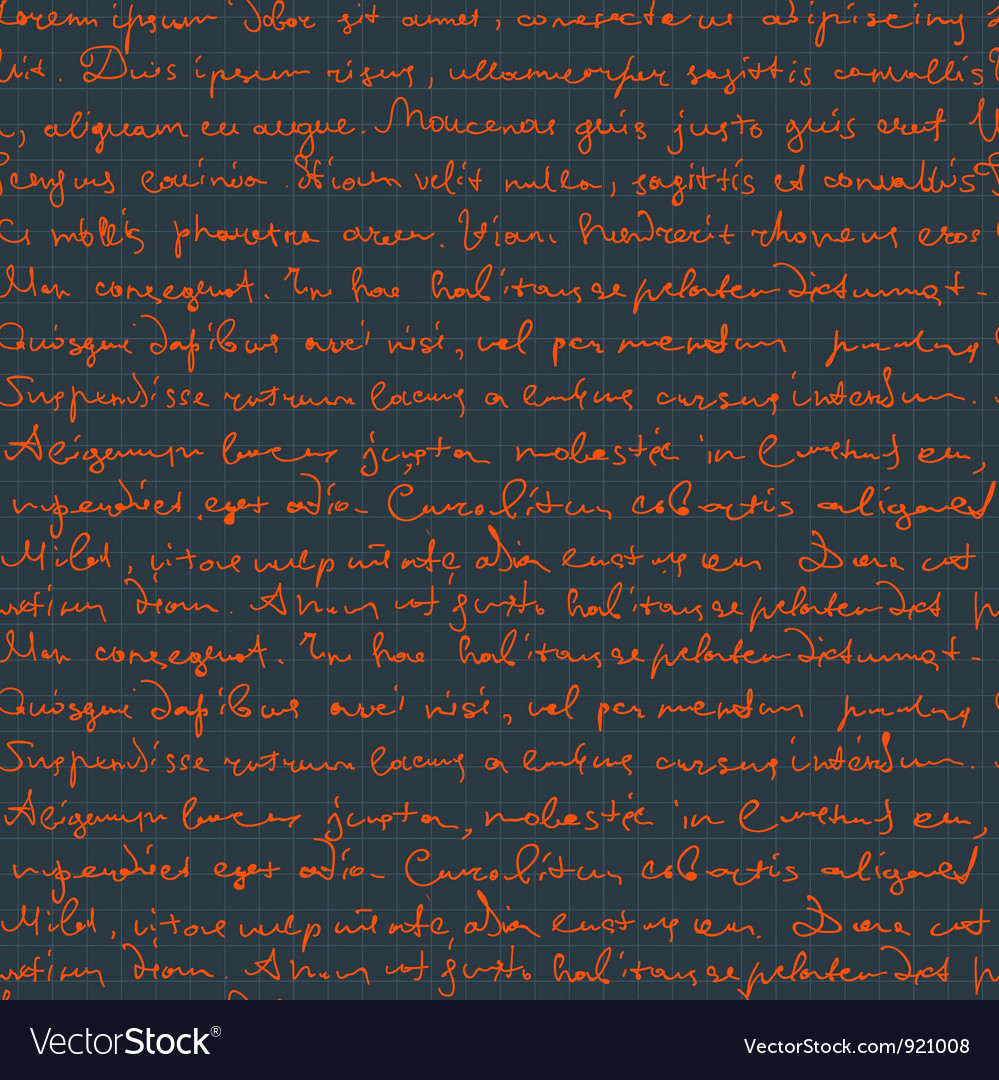 Seamless handwritngs on cell pattern vector | Price: 1 Credit (USD $1)