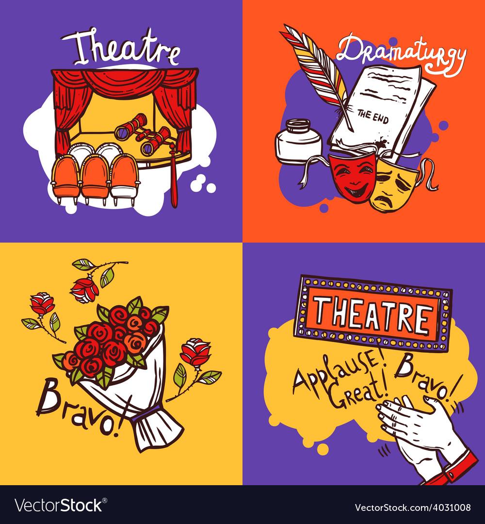 Theater design concept vector | Price: 1 Credit (USD $1)