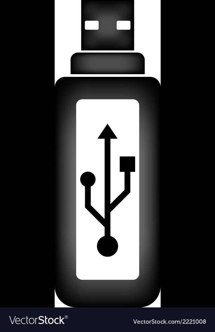 Usb flash icon vector | Price: 1 Credit (USD $1)