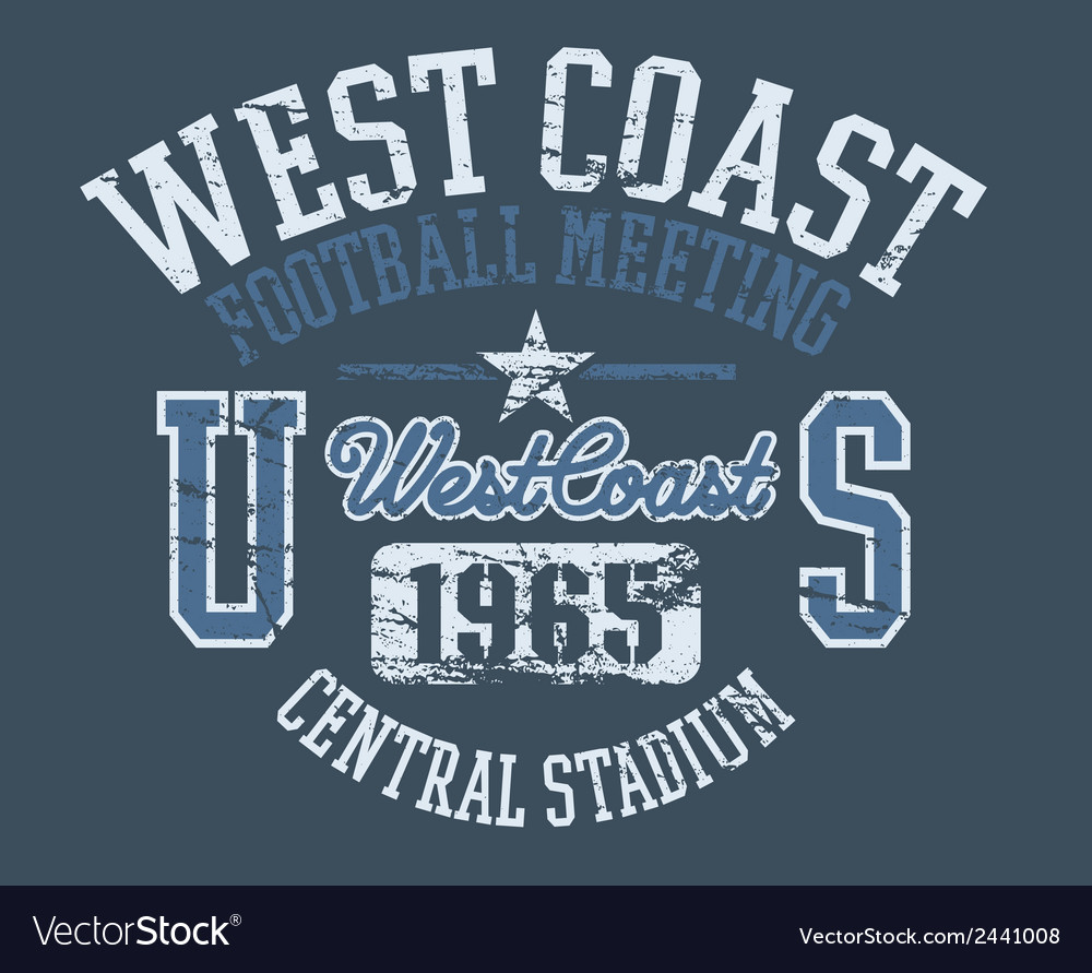 West coast athletics vector | Price: 3 Credit (USD $3)