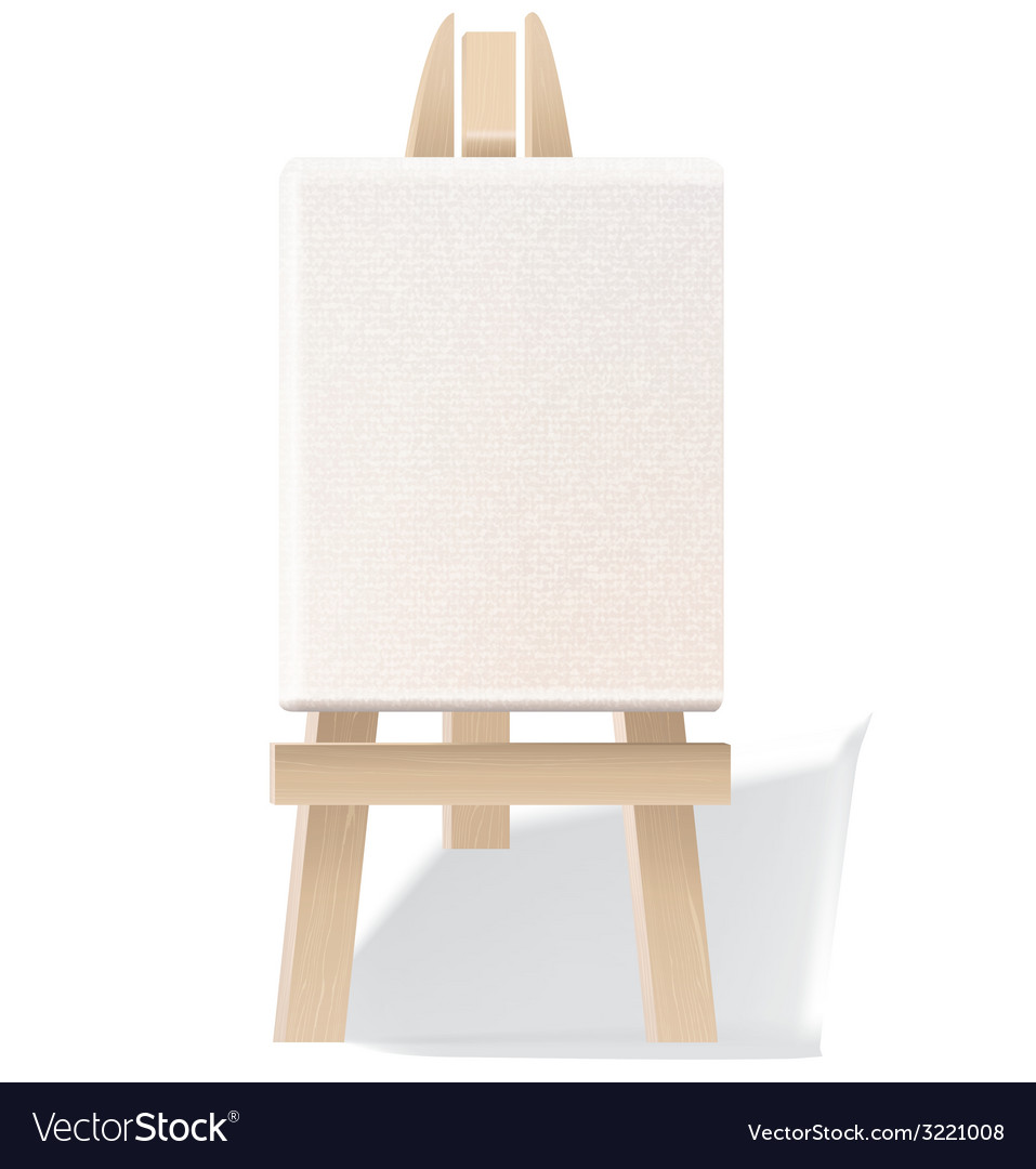 Wooden easel vector | Price: 1 Credit (USD $1)