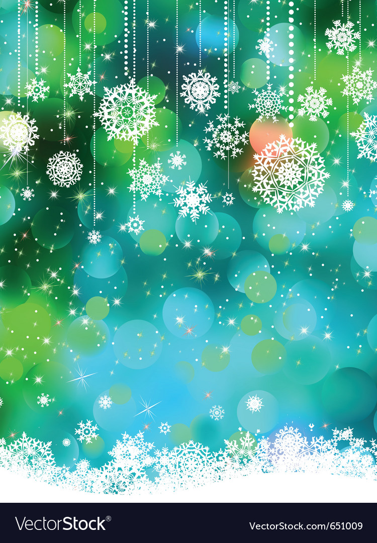 Abstract snowflakes background vector | Price: 1 Credit (USD $1)
