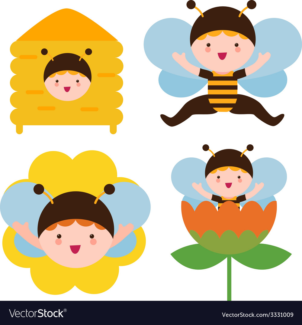 Bee babies vector | Price: 1 Credit (USD $1)