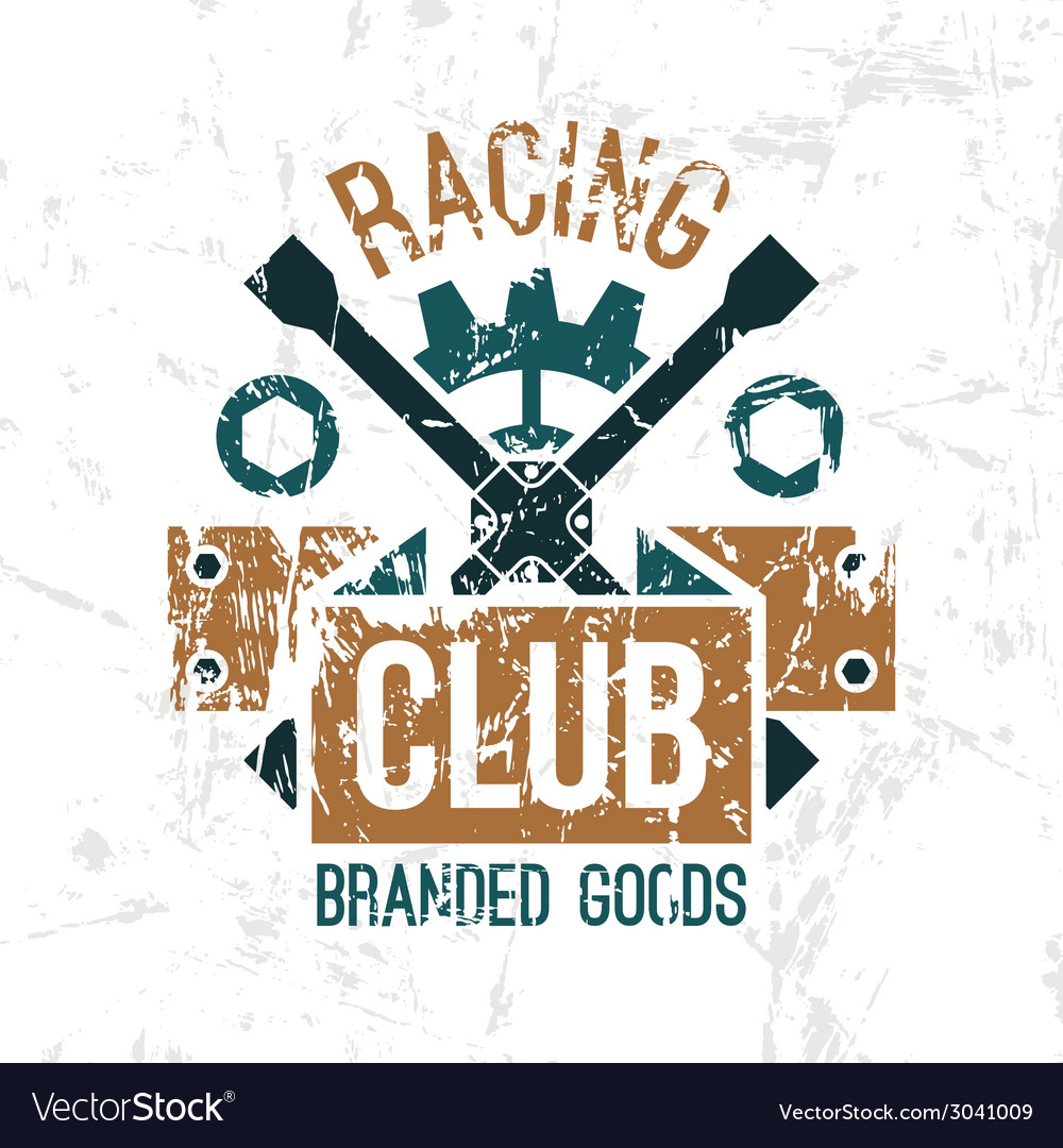 Car racing club emblem vector | Price: 1 Credit (USD $1)