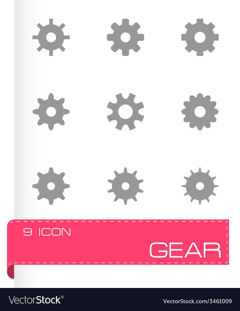 Gear icon set vector | Price: 1 Credit (USD $1)