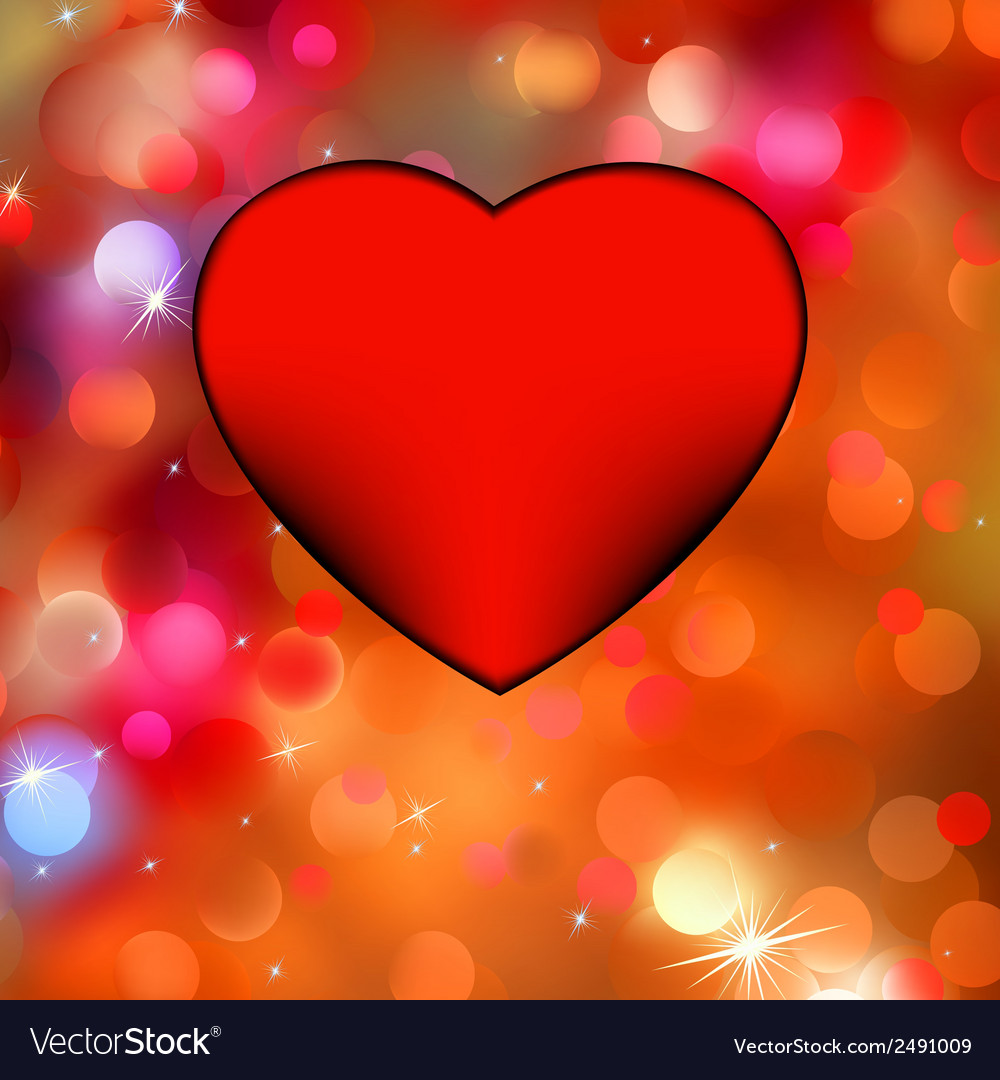 Heart bokeh frame with space eps 8 vector | Price: 1 Credit (USD $1)