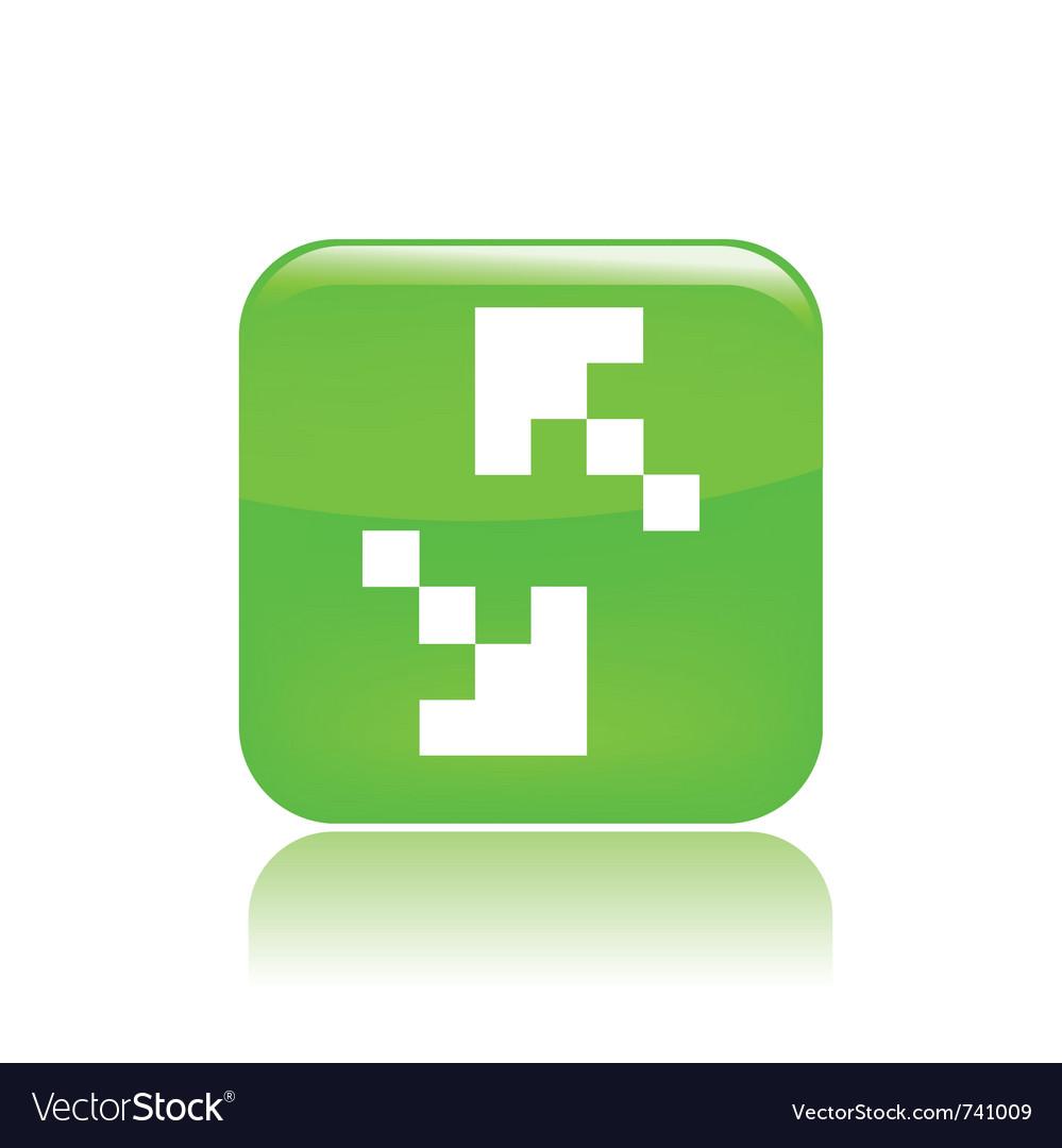 Pixel computer icon vector