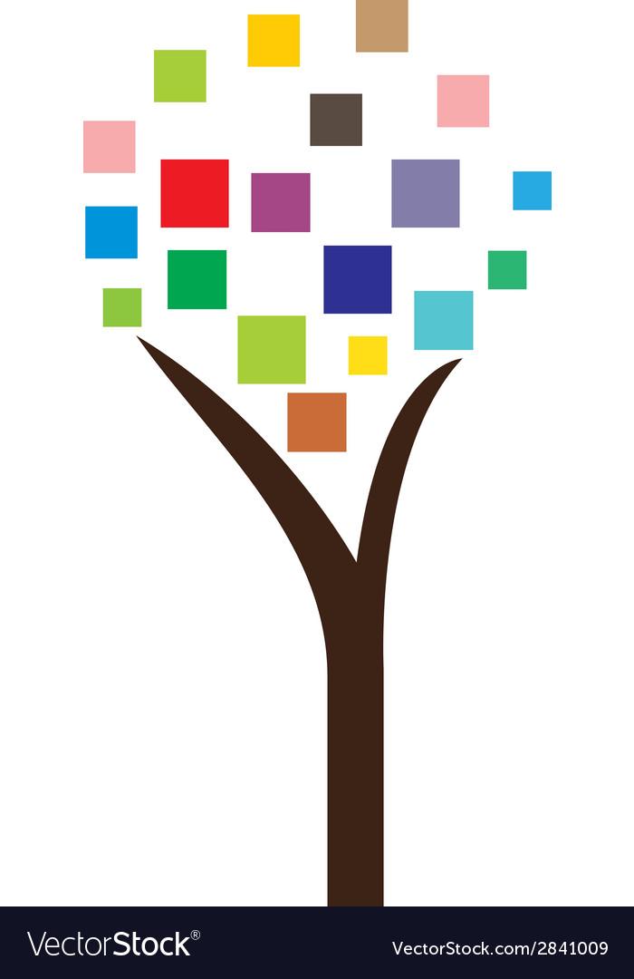 Pixel tree vector | Price: 1 Credit (USD $1)