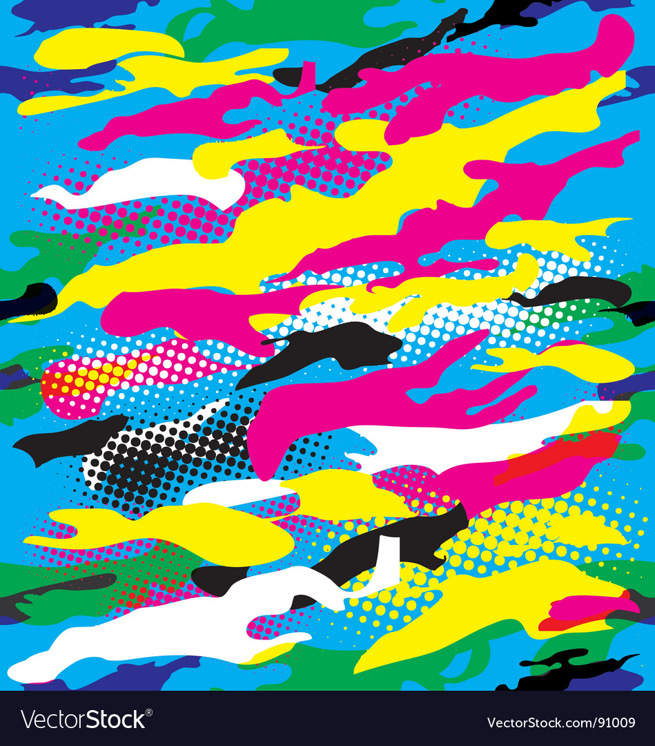 Pop art camouflage vector | Price: 1 Credit (USD $1)