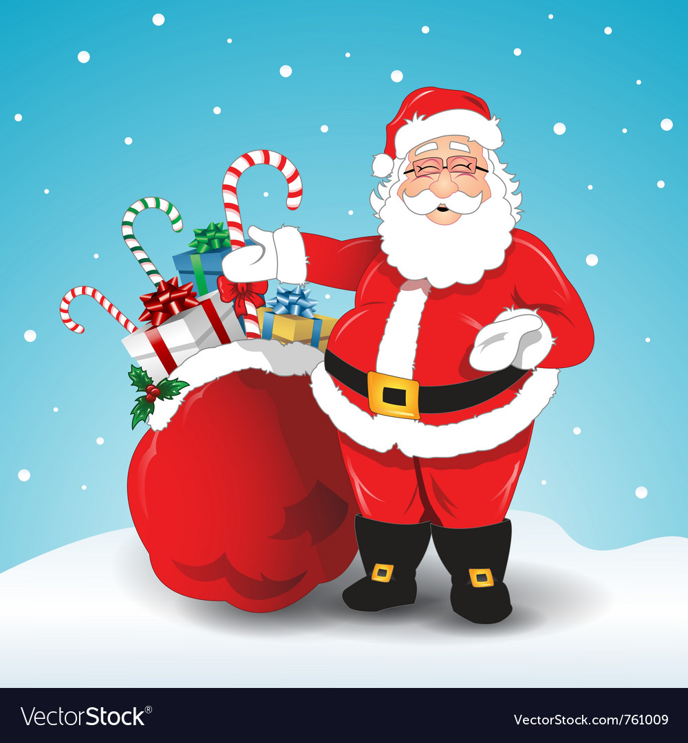Santa claus with gifts vector | Price: 1 Credit (USD $1)