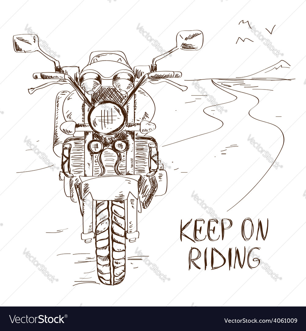 Sketch with motorbike vector | Price: 1 Credit (USD $1)