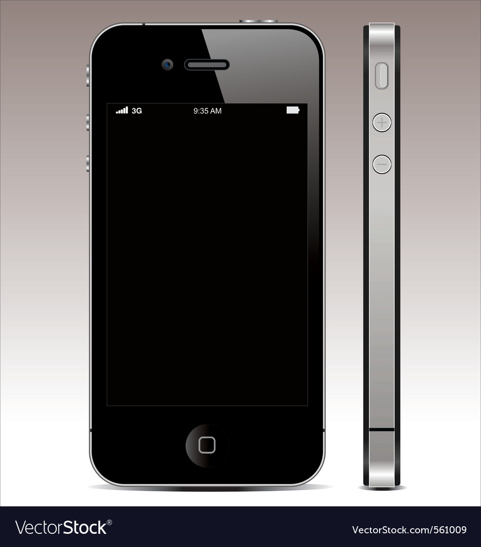 Smartphone 4 vector | Price: 3 Credit (USD $3)