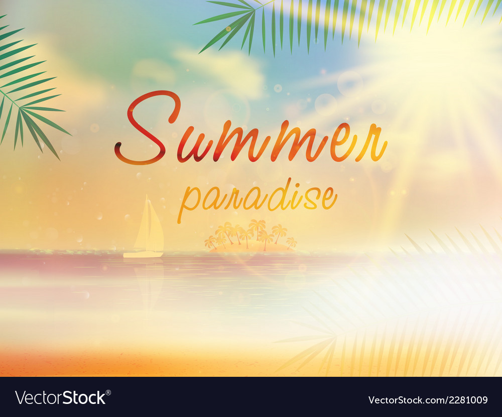 Summer background template with copyspace vector | Price: 1 Credit (USD $1)