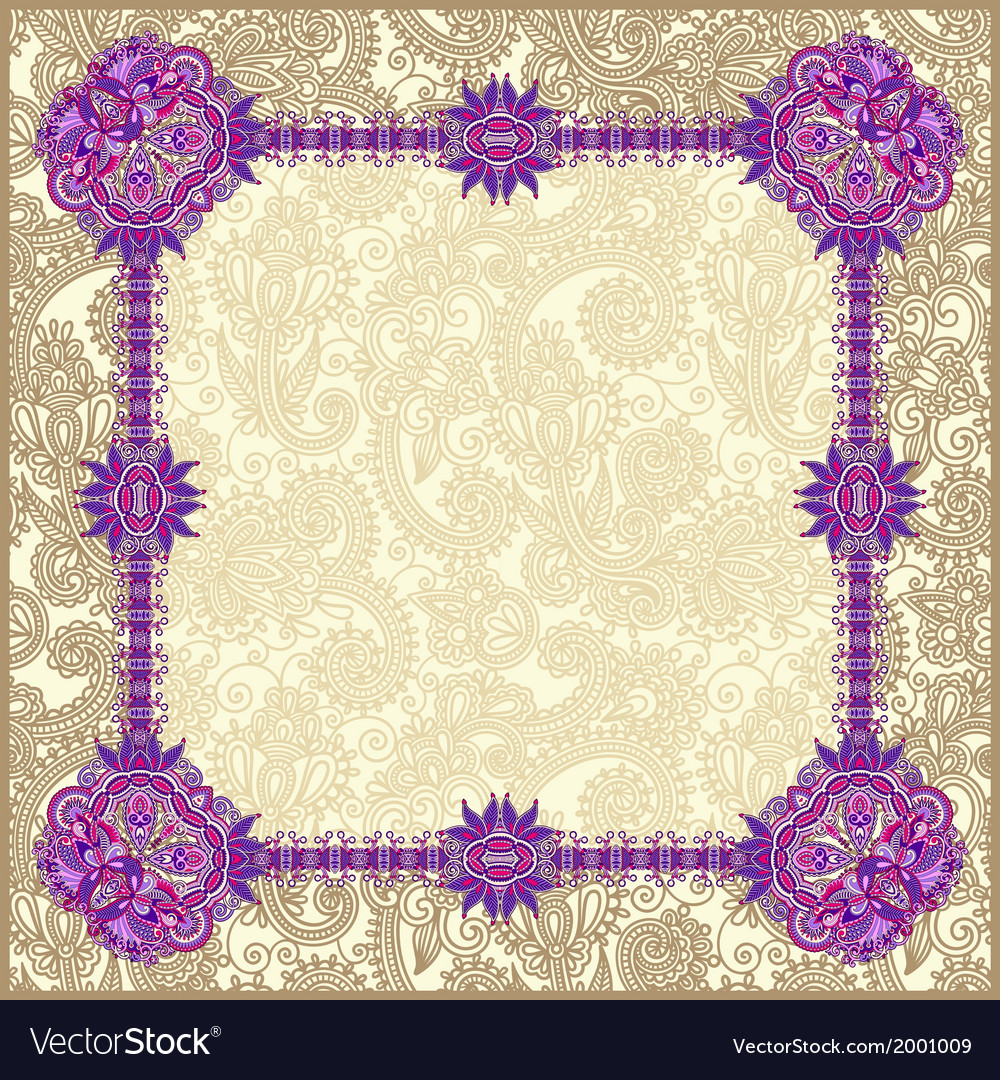 Vintage template with floral background vector | Price: 1 Credit (USD $1)