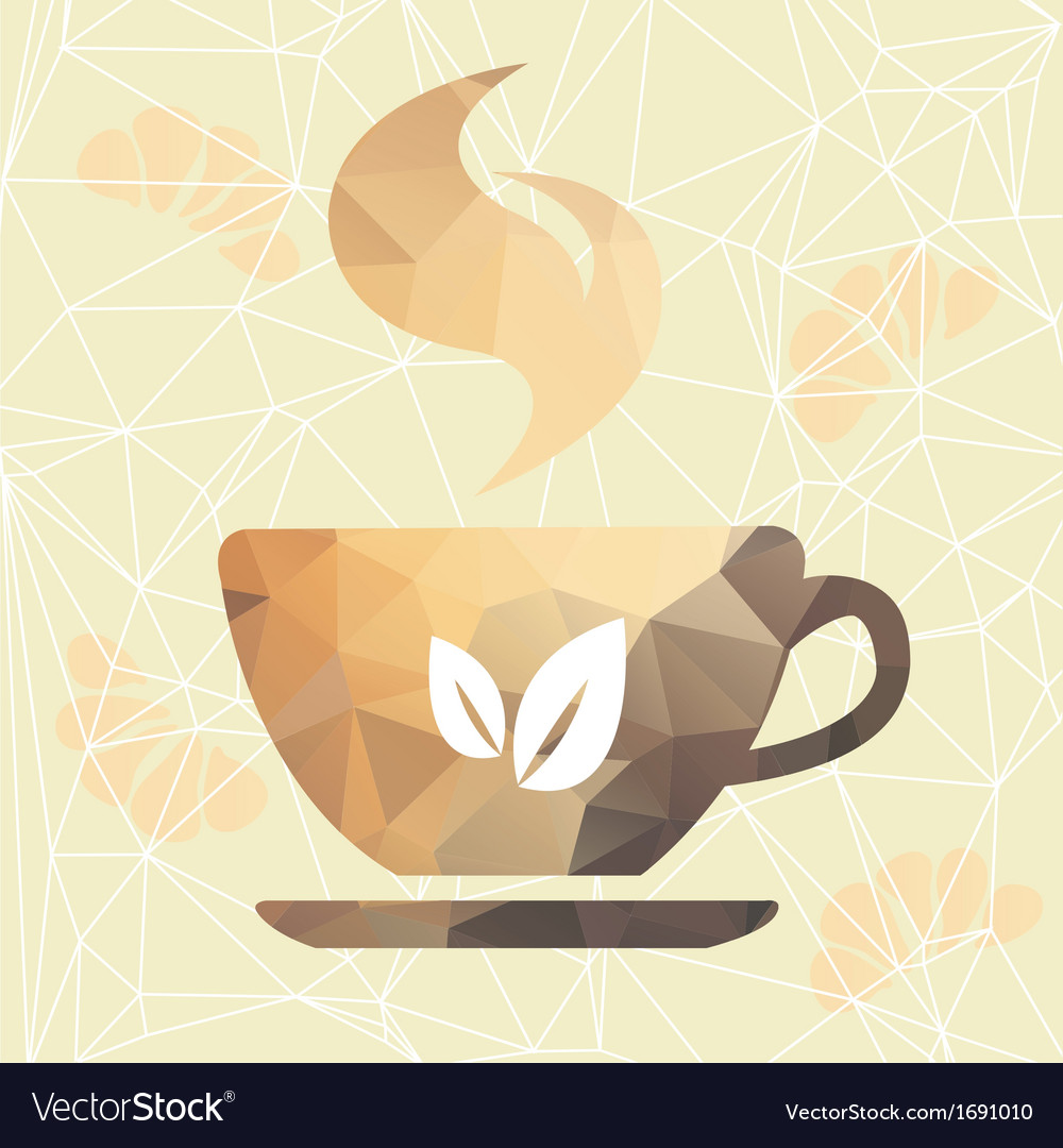 Abstract cup of coffee on a geometric background vector | Price: 1 Credit (USD $1)