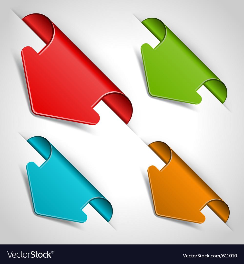 Arrow stickers set vector | Price: 1 Credit (USD $1)