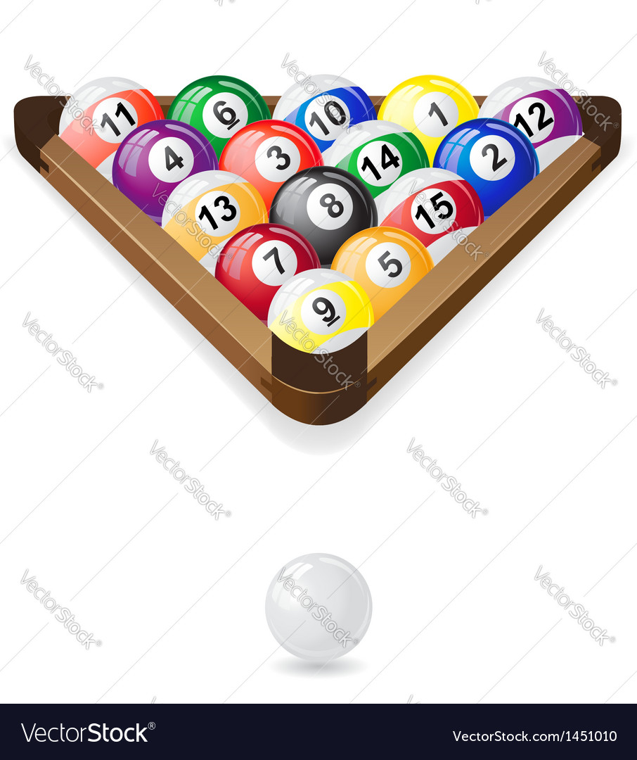 Billiard balls 02 vector | Price: 1 Credit (USD $1)