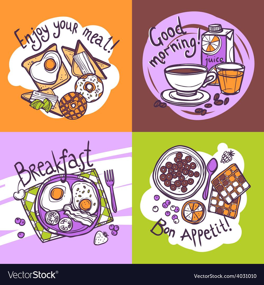 Breakfast design concept vector | Price: 1 Credit (USD $1)