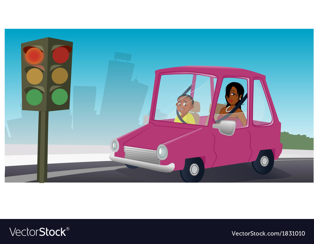 Car passengers stopsign vector | Price: 1 Credit (USD $1)
