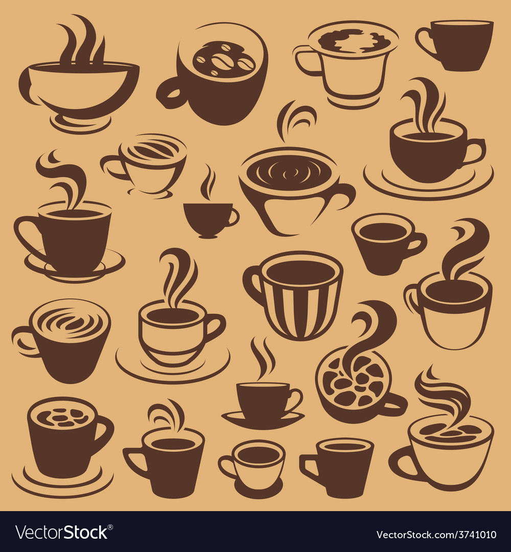 Coffee elements or logos vector | Price: 1 Credit (USD $1)