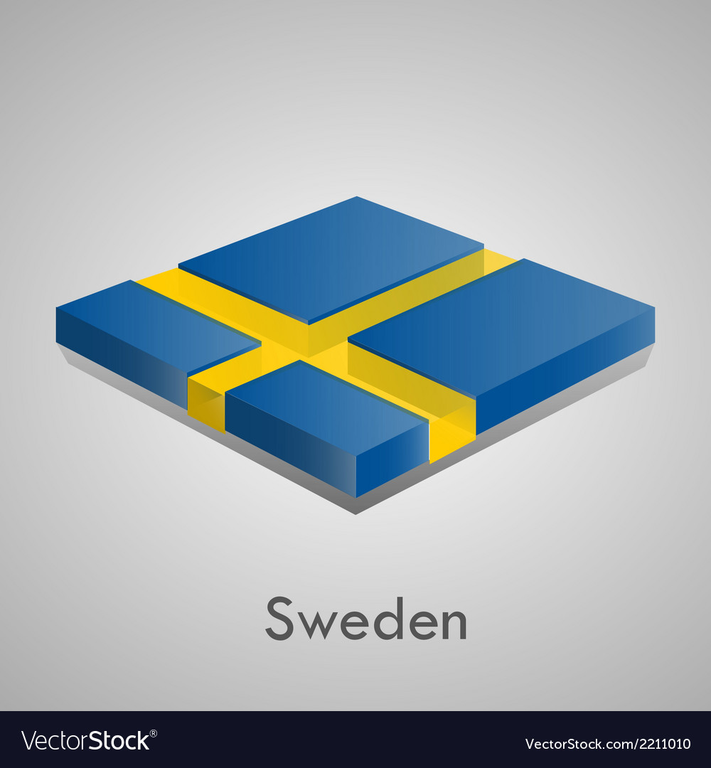 European flags set - sweden vector | Price: 1 Credit (USD $1)